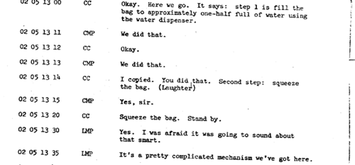 Drinking Water in Space: Transcripts From Apollo 10