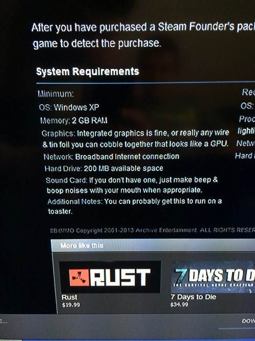 The System Requirements for 8BitMMO are Hilarious