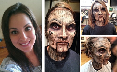 On the Left, a Perfectly Normal Woman. On the Right, a Crazy-Creepy Wooden Marionette.