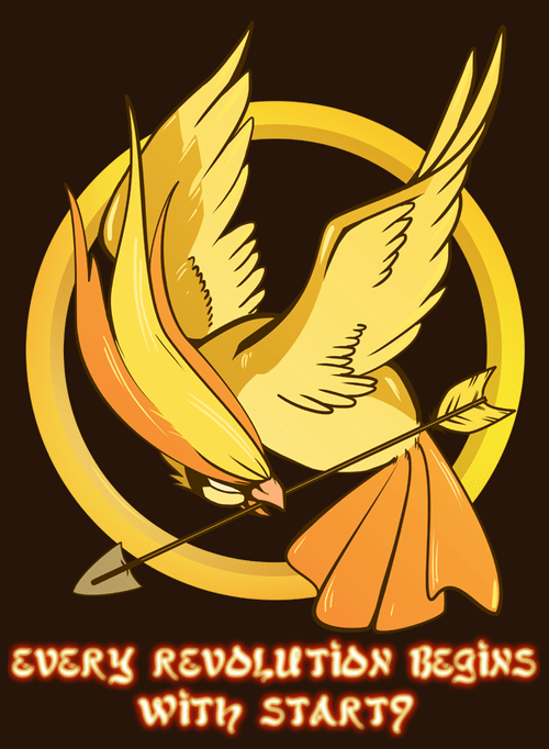 Bird Jesus as the Mockingjay