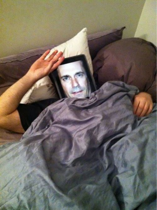 Jon Hamm,ipad,hd,mask,funny