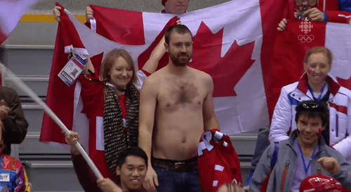 Canada,poorly dressed,hockey,chest hair,olympics,undressed
