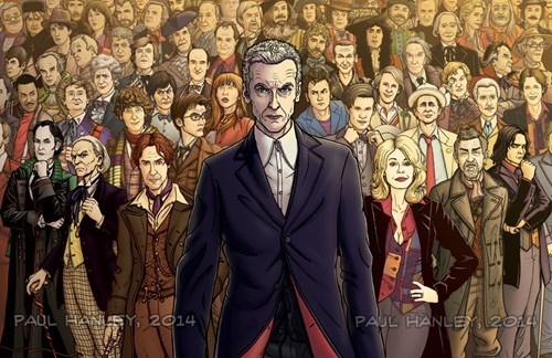 You Need An Annotated Bibliography For This Drawing Of All The Doctor's Faces