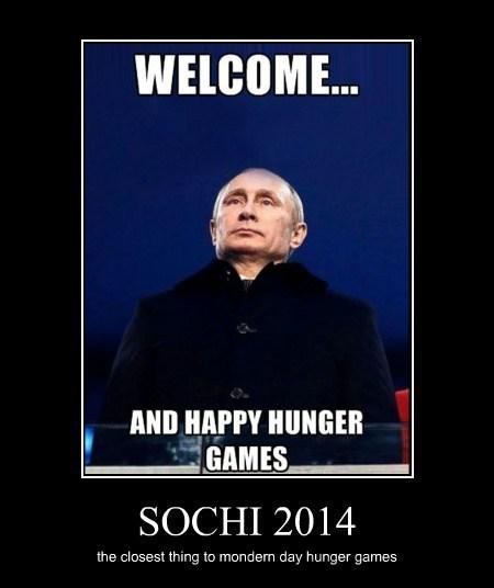 hunger games,funny,olympics,Vladimir Putin,Sochi 2014