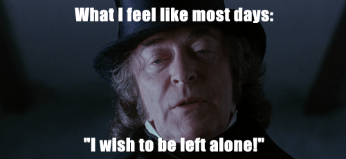 "What I feel like most days:  ""I wish to be left alone!"""
