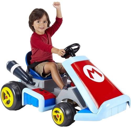 Childhood Enhanced of the Day: Kids These Days Can Play ACTUAL Mario Kart. Blue Shells Not Included.