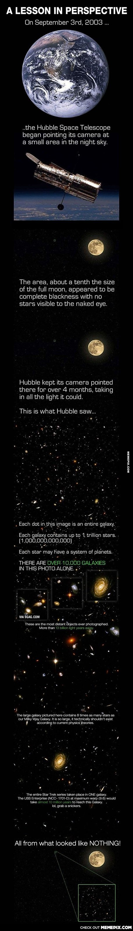 This is proof that we are completely insignificant