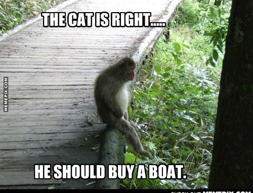 HE SHOULD BUY A BOAT.