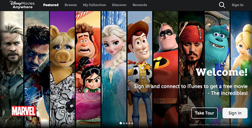 """Disney Movies Anywhere"" Streaming Service Brings Disney to You, Well, Anywhere"