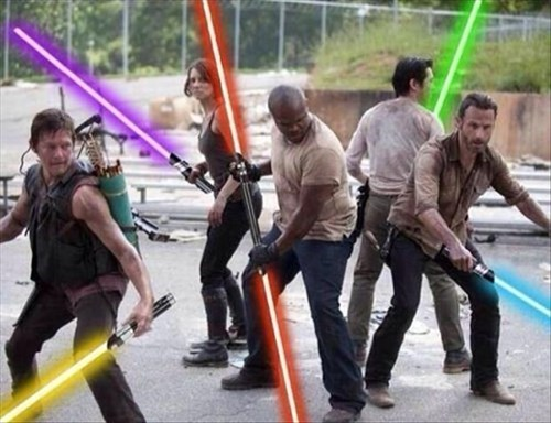 light saber,the force,star wars,The Walking Dead