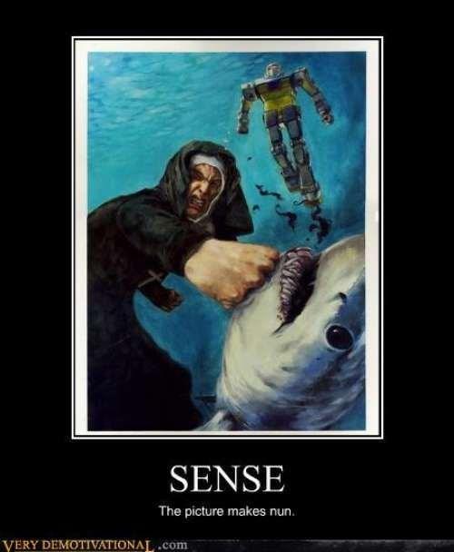 awesome,nun,wtf,shark