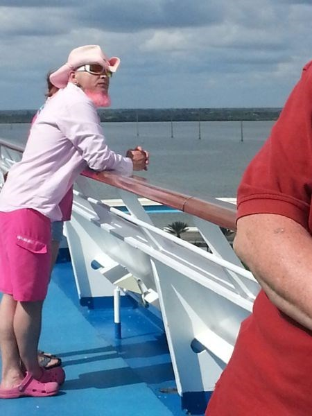 beard,crocs,poorly dressed,pink,g rated