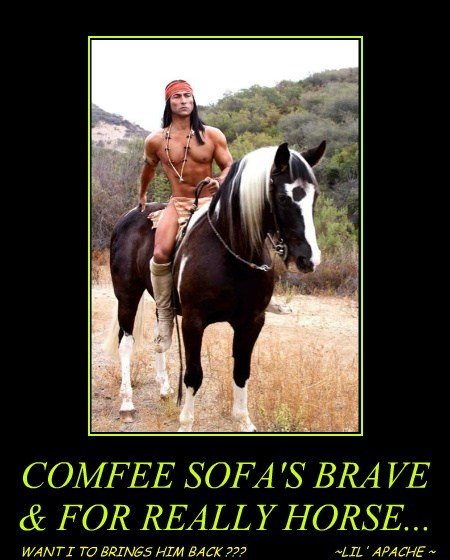 COMFEE SOFA'S BRAVE & FOR REALLY HORSE...