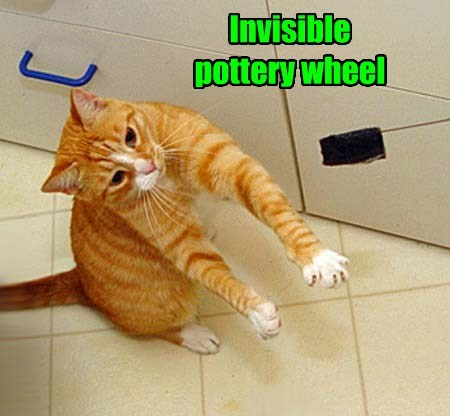 Invisible pottery wheel