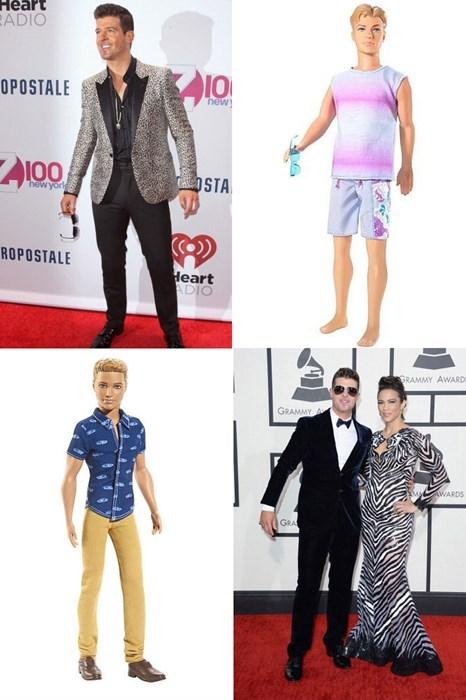 dolls,red carpet,robin thicke,celeb,funny