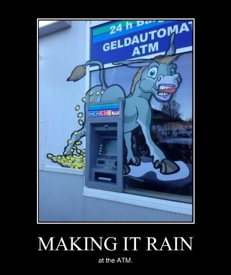 ATM,donkey,graffiti,funny,money