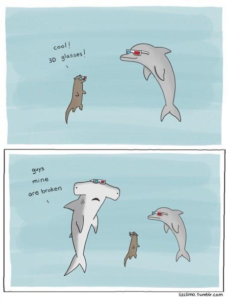 critters,sharks,web comics
