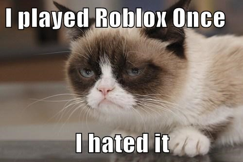 I played Roblox Once  I hated it
