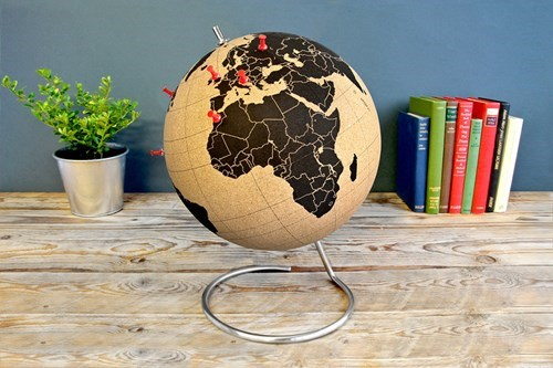 Use a Pin to Plan Your Travel With This Cork Globe!