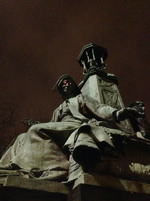 With a Few LEDs, Ordinary Statues Are Now Nightmare Fuel