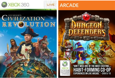 March's Games With Gold are Civilization Revolution and Dungeon Defenders