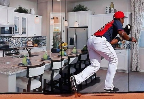 One Well-Placed Advertisement and Now This Guy Looks Like He's Fielding in the Kitchen