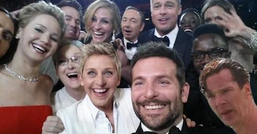 most retweeted selfie ever,selfie,celeb,ellen degeneres,oscars