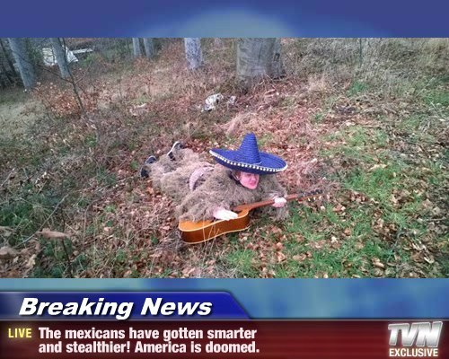 Breaking News - The mexicans have gotten smarter  and stealthier! America is doomed.