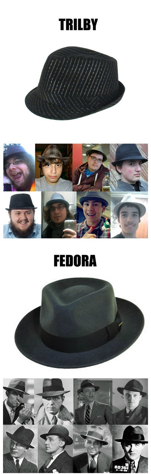 hats,neckbeards,trilby,fedoras,poorly dressed,g rated