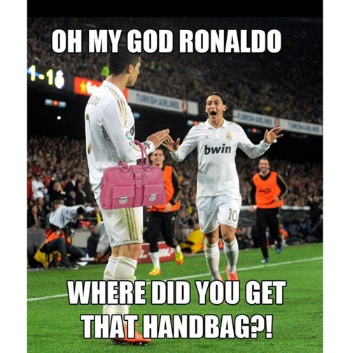 Ronaldo is SO fashionable