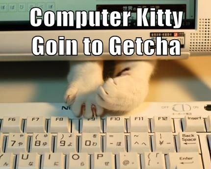Computer Kitty Goin to Getcha