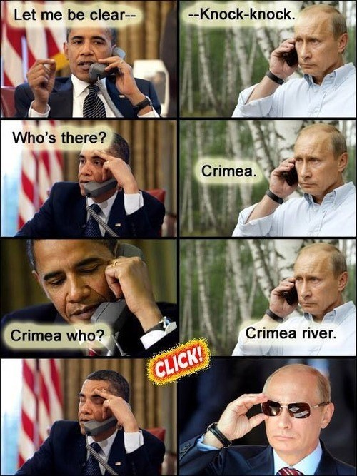 Obama Being Putin a Sticky Situation
