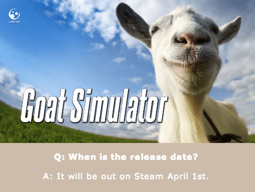 You've Got Less Than a Month to Wait for Goat Simulator