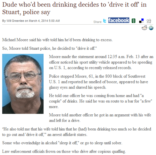 Try to Fathom the Thought Process of This Drunk Driver. Just Try.