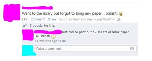 I Hear They Have Bunches of Free Paper BOUND TOGETHER There