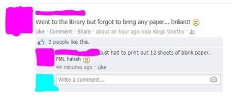 facepalm,library,free stuff