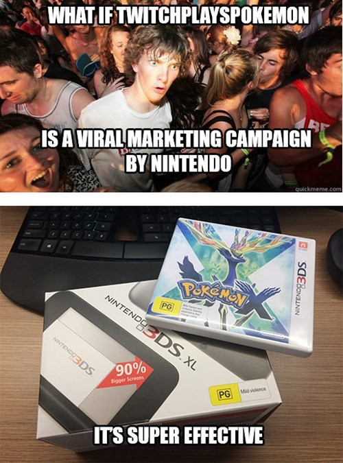 What if Twitch Plays Pokémon is a Viral Marketing Campaign by Nintendo?