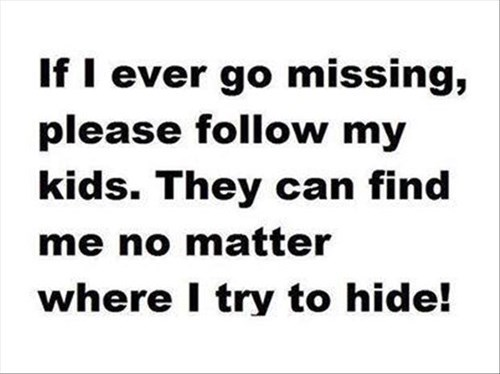 Unless We're Actually Playing Hide and Seek