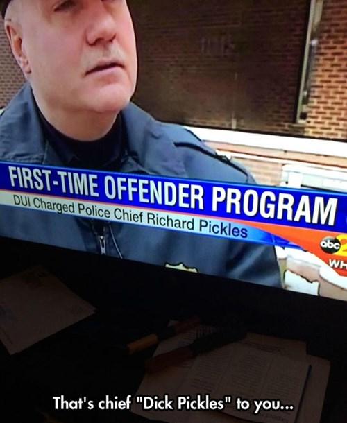 funny names,news,names,pickles,police