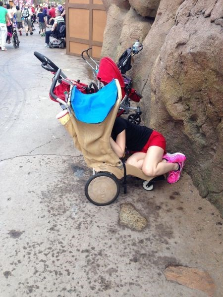 Sometimes Mom Could Use a Nap in the Stroller
