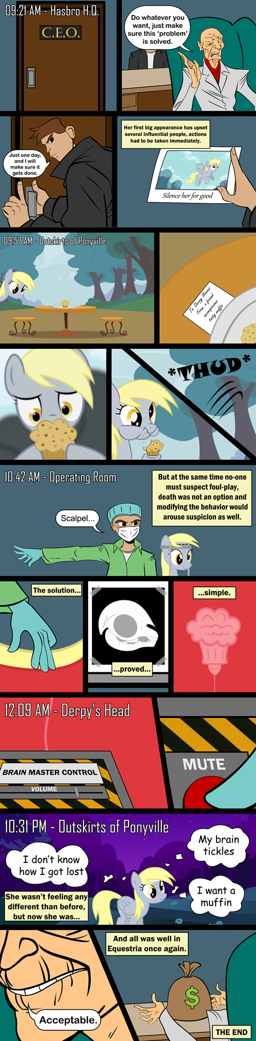 Why Derpy doesn't speak any more.