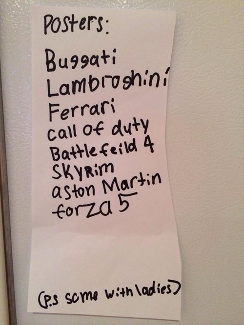Wish List From an Eight-Year-Old