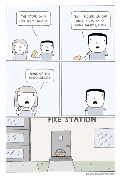 carrots,responsibility,parenthood,web comics
