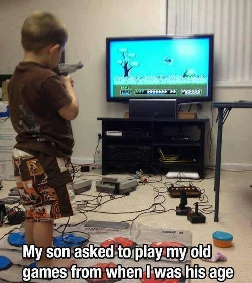 It's Nice to Show Kids Today What Gaming Used to be Like