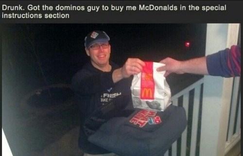 drunk,funny,McDonald's,pizza