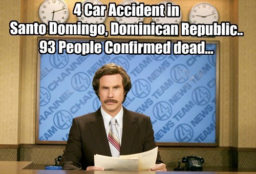 4 Car Accident in  Santo Domingo, Dominican Republic.. 93 People Confirmed dead...