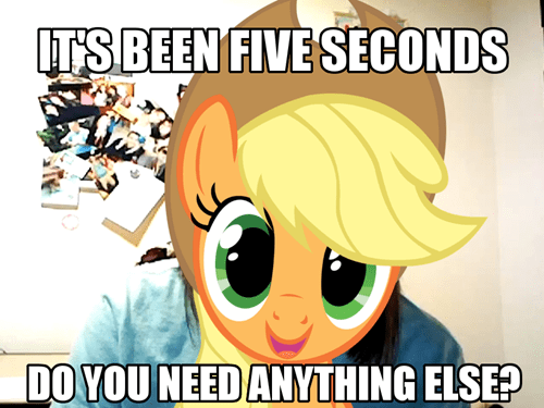 Overly Attatched Applejack