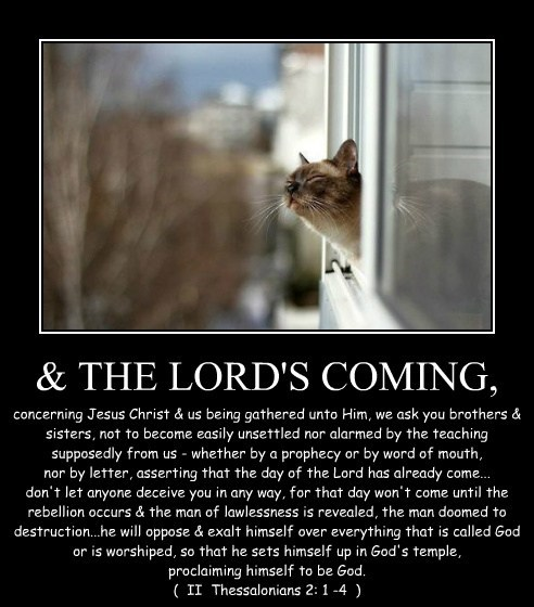 & THE LORD'S COMING,
