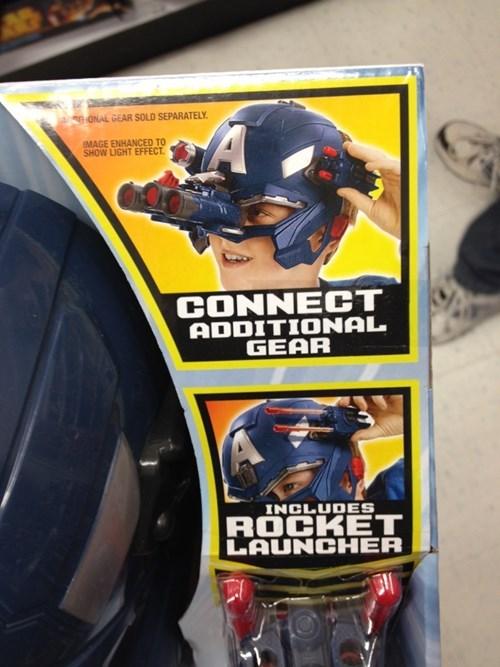 captain america,rocket launcher,toys