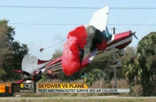 A Skydiver and Plane Collided in Midair, Miraculously No One Was Hurt